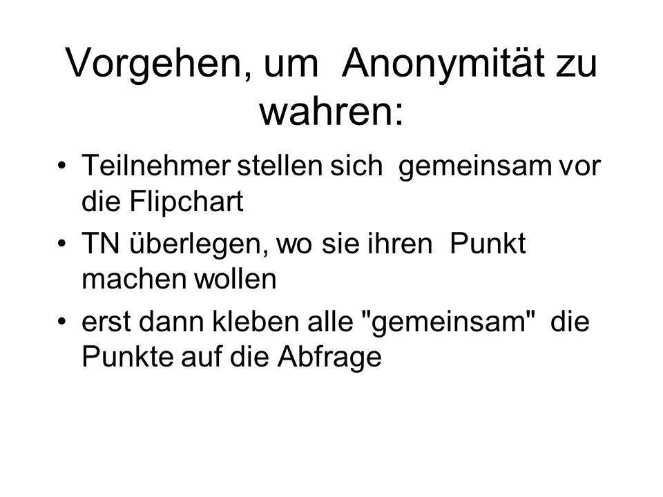 Vorgehen, um Anonymität zu wahren: