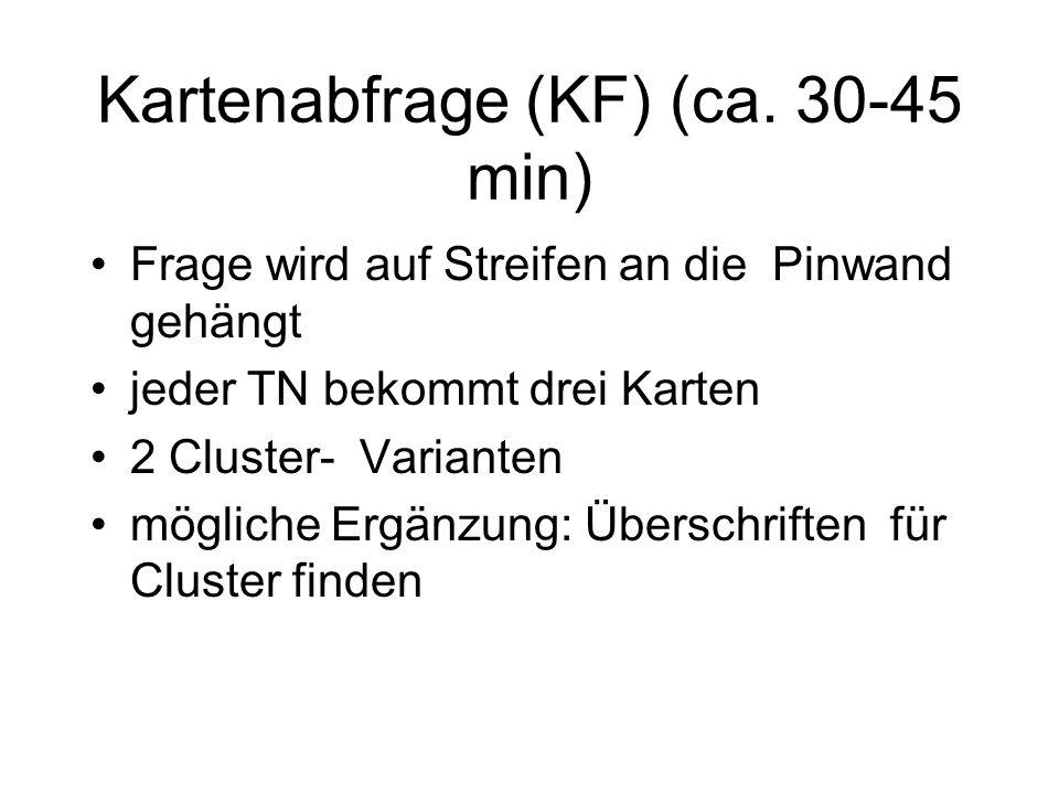 Kartenabfrage (KF) (ca. 30-45 min)