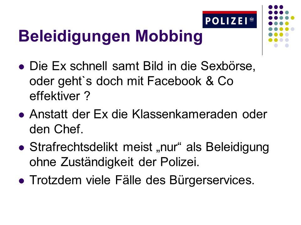 Beleidigungen Mobbing