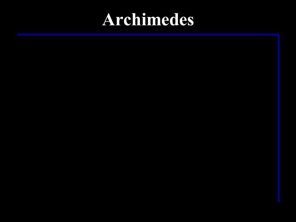 …ein ganz schön schlauer Mensch… …dieser Archimedes…