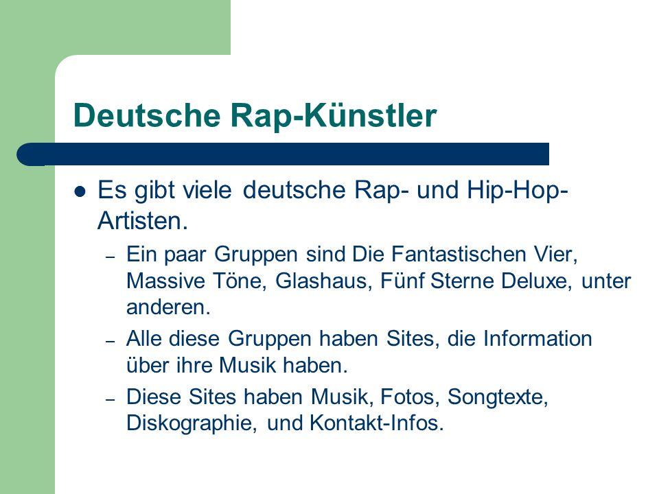 Deutsche Rap-Künstler