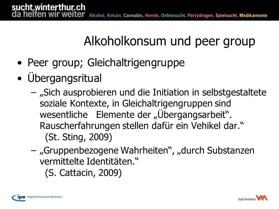 Alkoholkonsum und peer group