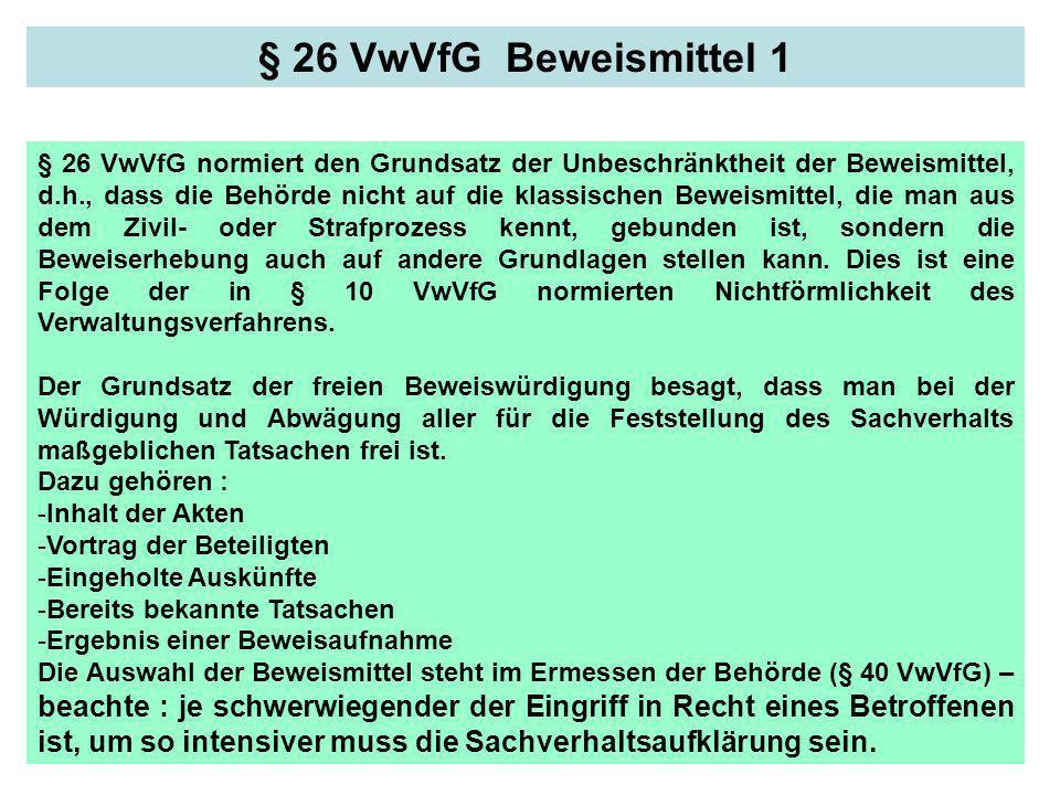 § 26 VwVfG Beweismittel 1