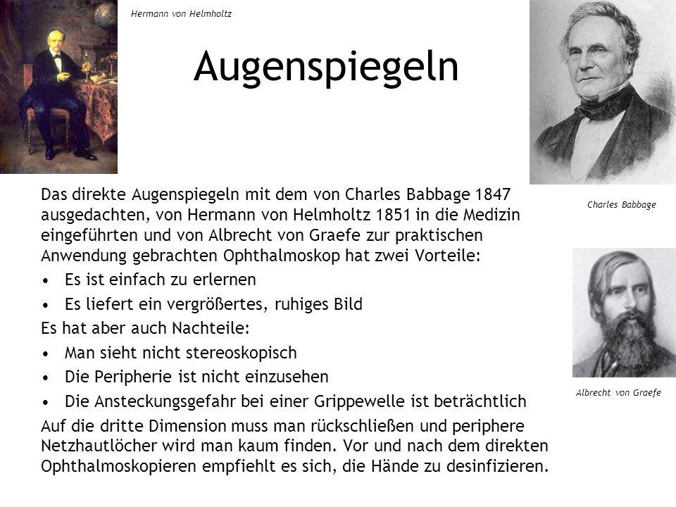 Hermann von Helmholtz Augenspiegeln.