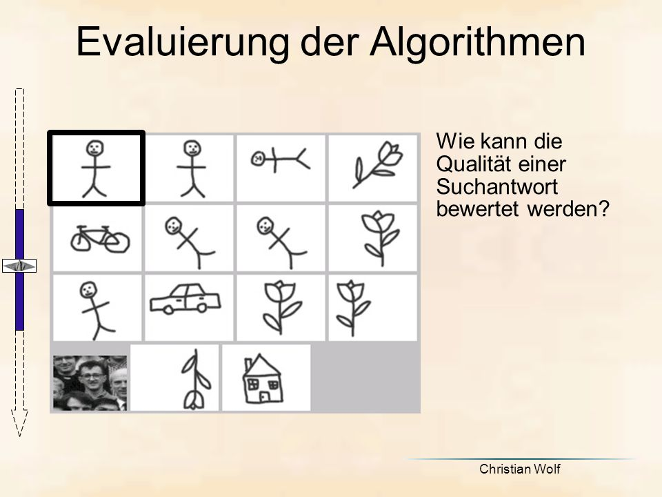 Evaluierung der Algorithmen