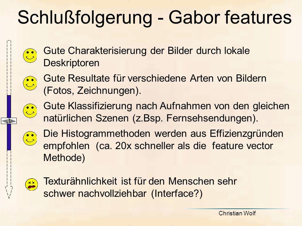 Schlußfolgerung - Gabor features
