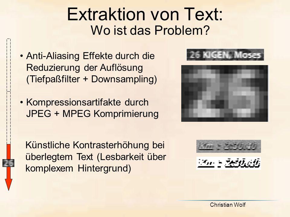 Extraktion von Text: Wo ist das Problem