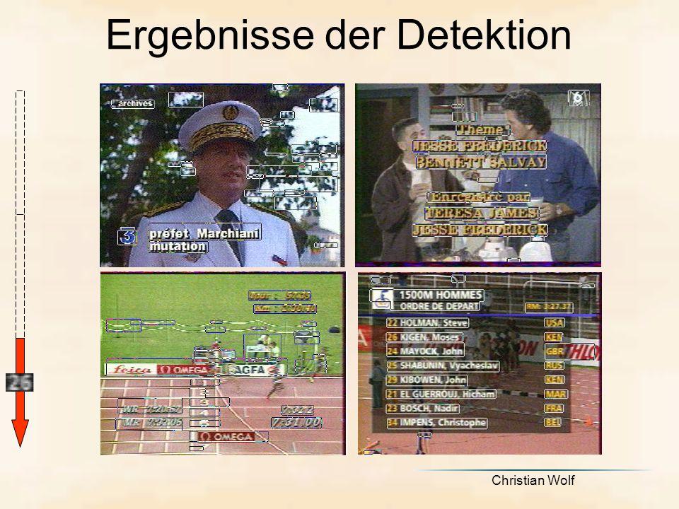 Ergebnisse der Detektion