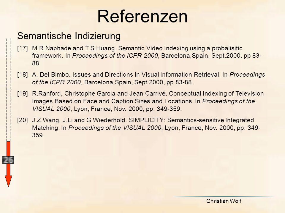 Referenzen Semantische Indizierung