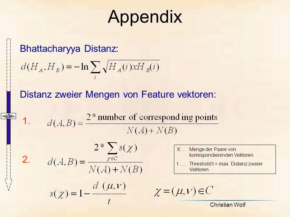 Appendix Bhattacharyya Distanz: