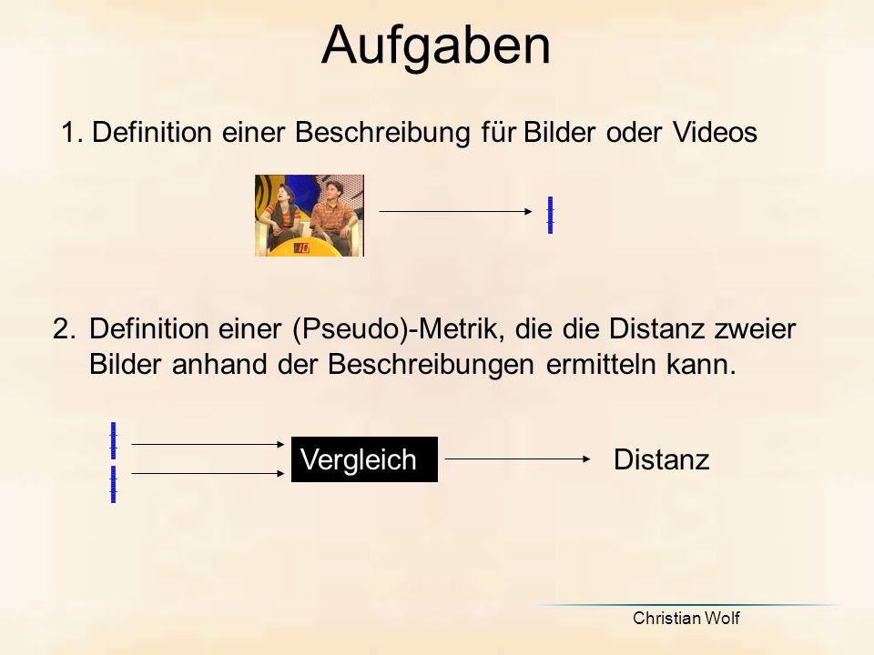 Aufgaben 1. Definition einer Beschreibung für Bilder oder Videos