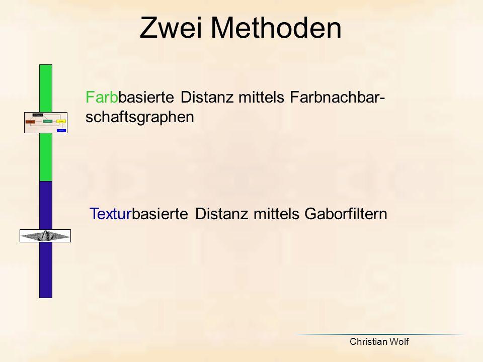 Zwei Methoden Farbbasierte Distanz mittels Farbnachbar-schaftsgraphen