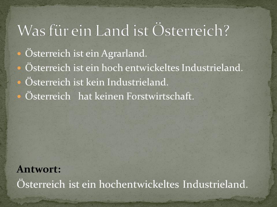 Was für ein Land ist Österreich