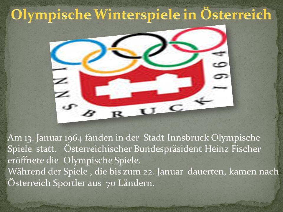 Olympische Winterspiele in Österreich