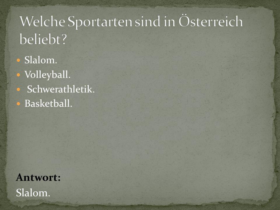 Welche Sportarten sind in Österreich beliebt