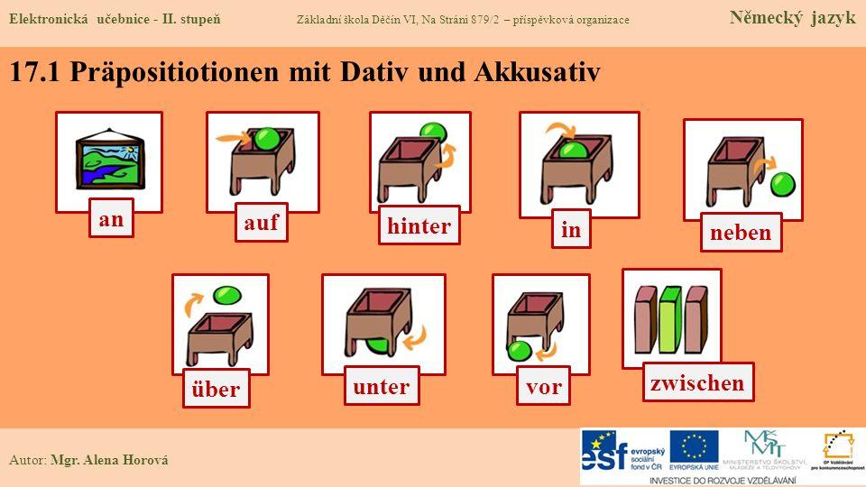 17.1 Präpositiotionen mit Dativ und Akkusativ