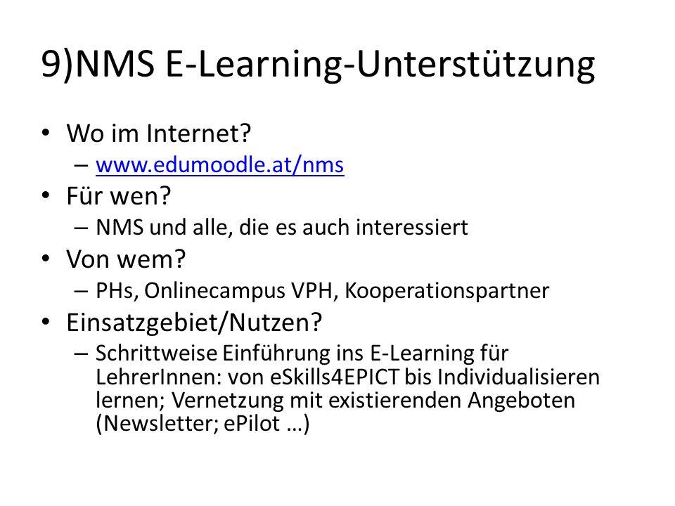 9)NMS E-Learning-Unterstützung