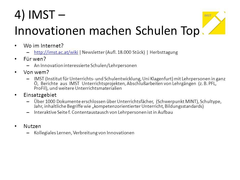 4) IMST – Innovationen machen Schulen Top