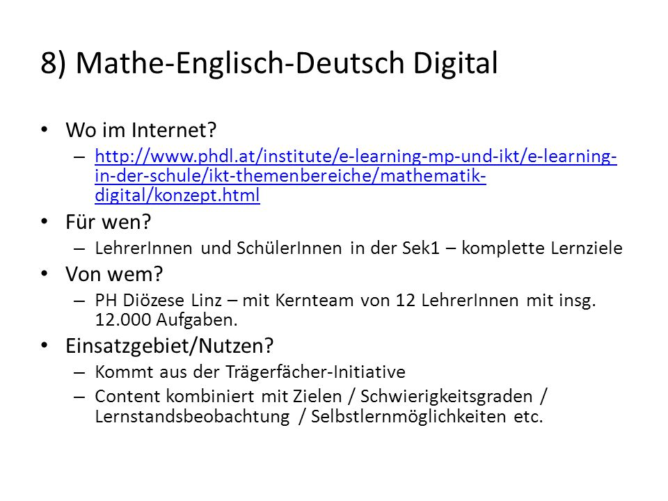 8) Mathe-Englisch-Deutsch Digital