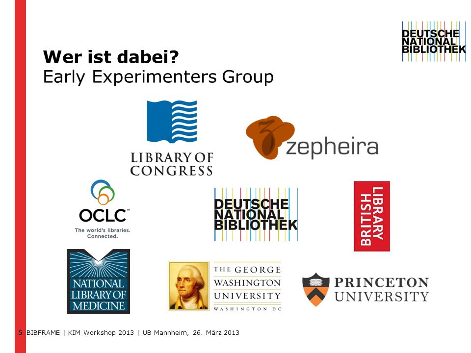 Wer ist dabei Early Experimenters Group