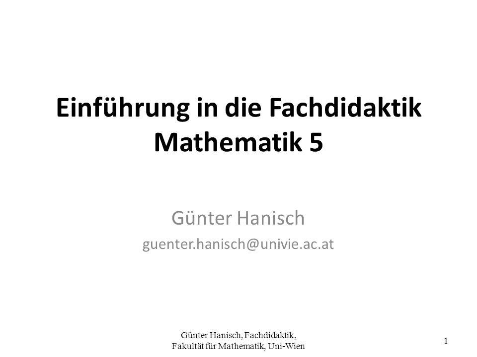 Einführung in die Fachdidaktik Mathematik 5