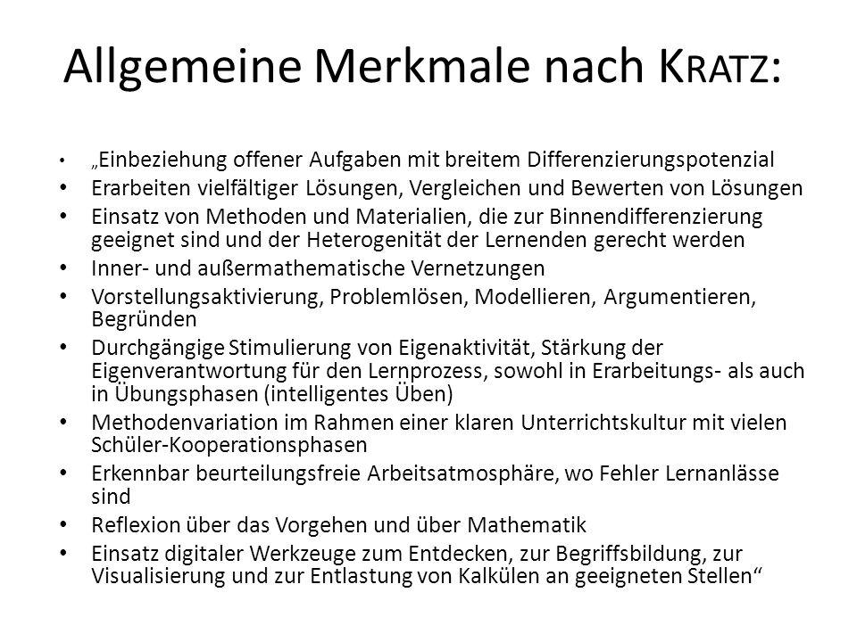 Allgemeine Merkmale nach Kratz:
