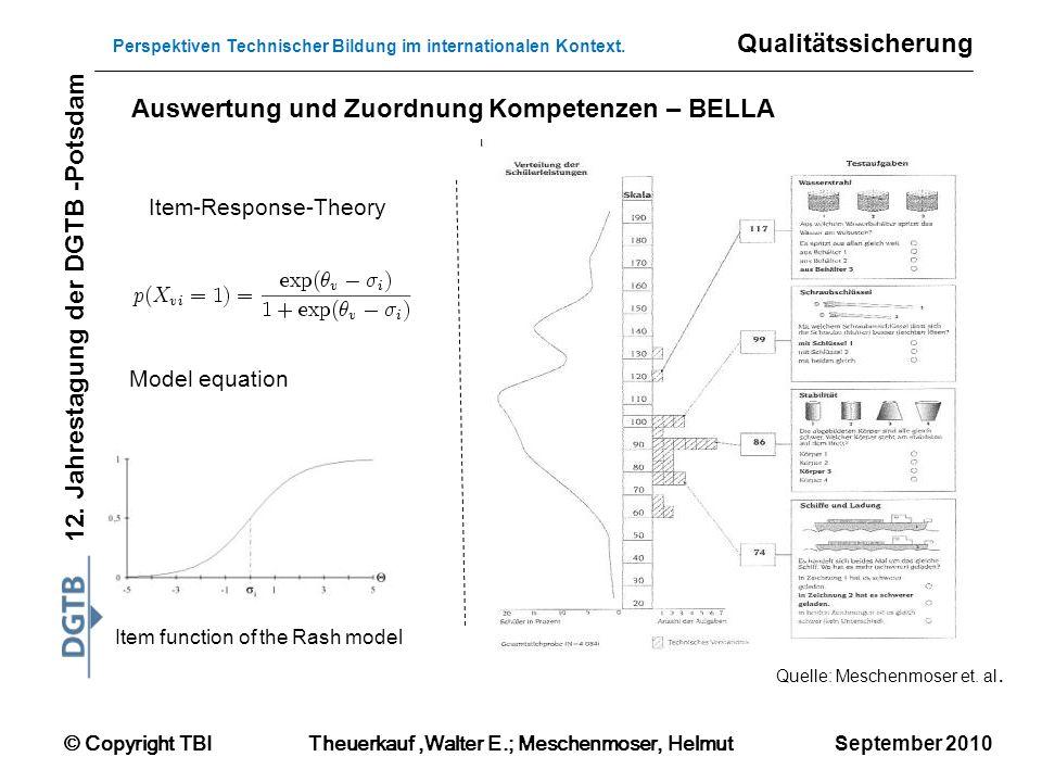 Auswertung und Zuordnung Kompetenzen – BELLA