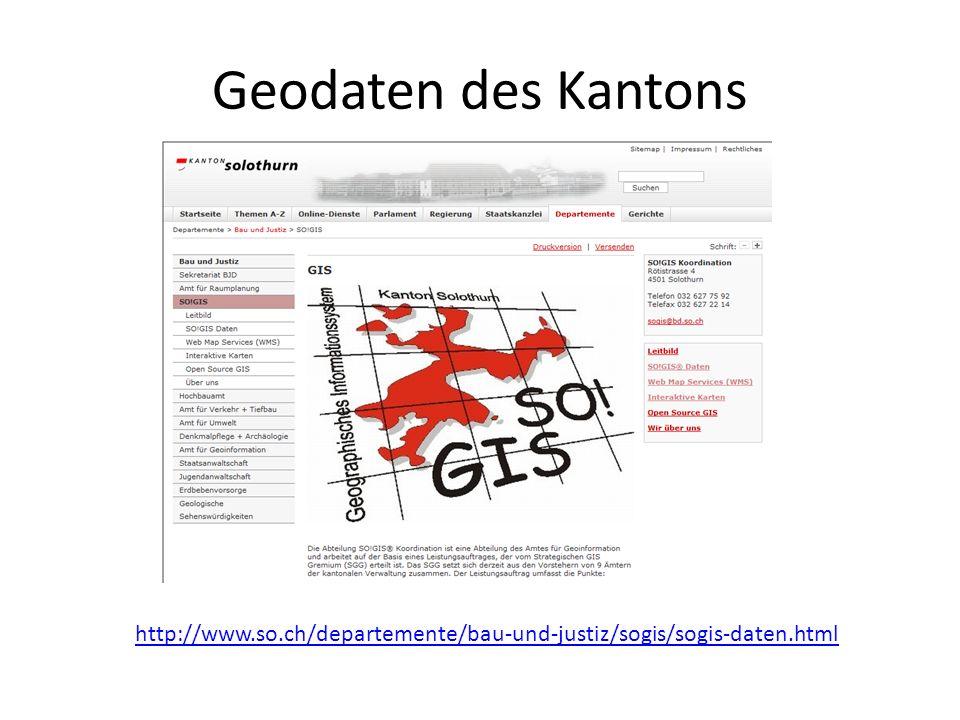 Geodaten des Kantons http://www.so.ch/departemente/bau-und-justiz/sogis/sogis-daten.html
