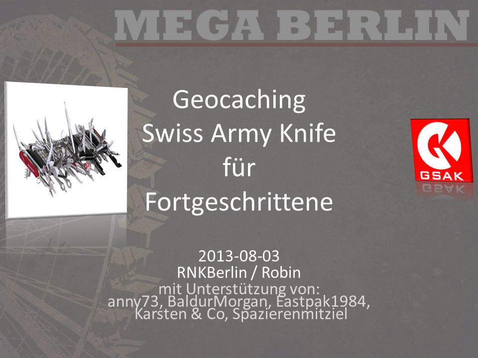 Geocaching Swiss Army Knife für Fortgeschrittene