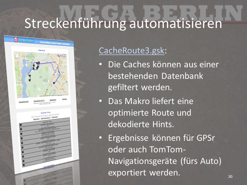 Streckenführung automatisieren