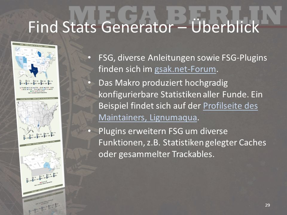 Find Stats Generator – Überblick