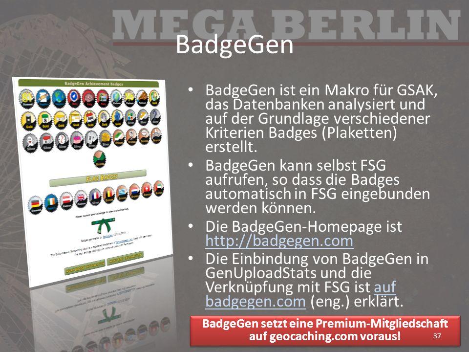 BadgeGen setzt eine Premium-Mitgliedschaft auf geocaching.com voraus!