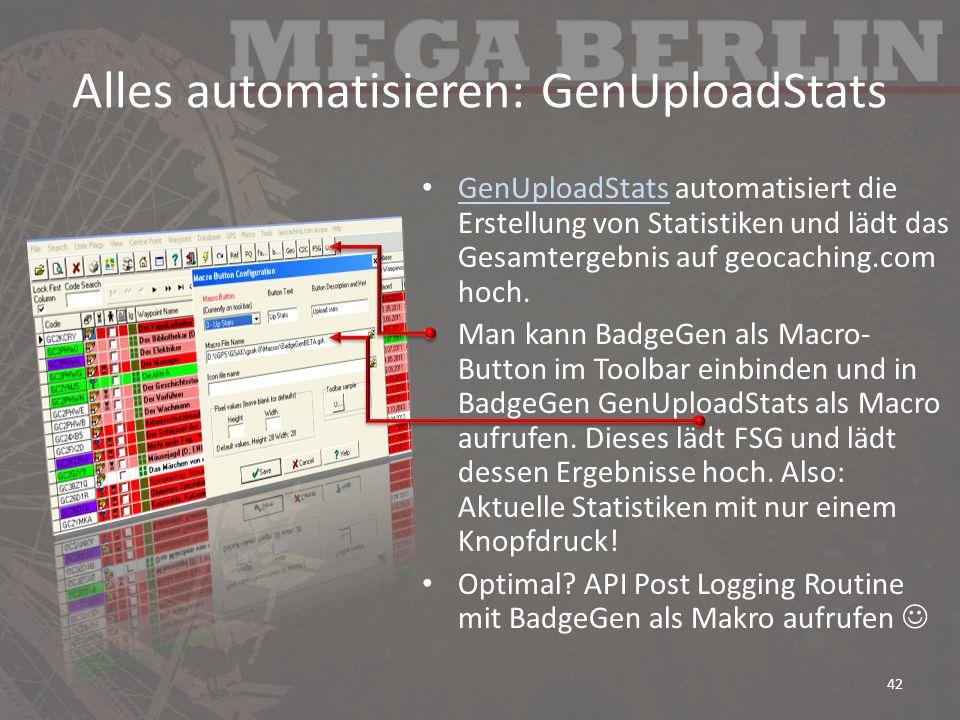 Alles automatisieren: GenUploadStats