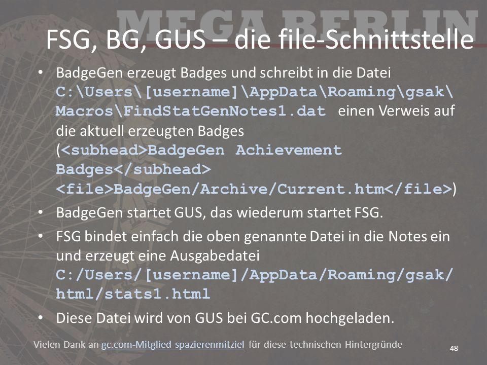 FSG, BG, GUS – die file-Schnittstelle