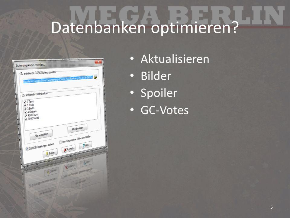 Datenbanken optimieren