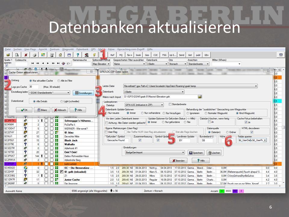Datenbanken aktualisieren