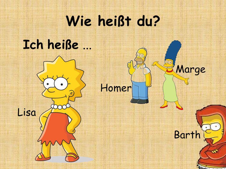 Wie heißt du Ich heiße ... Marge Homer Lisa Barth