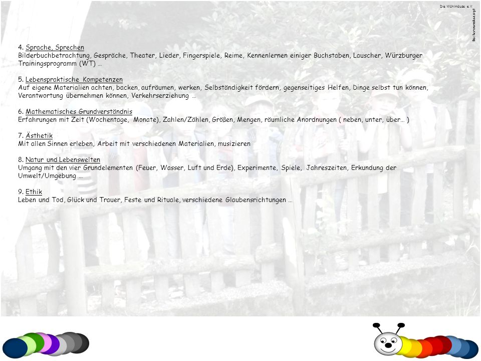Die Wühlmäuse e.V. Bücherwurmkonzept. 4. Sprache, Sprechen.