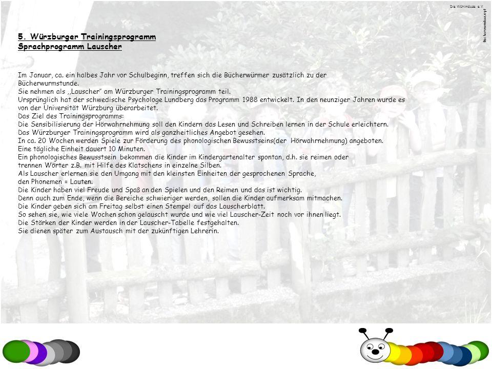 5. Würzburger Trainingsprogramm Sprachprogramm Lauscher