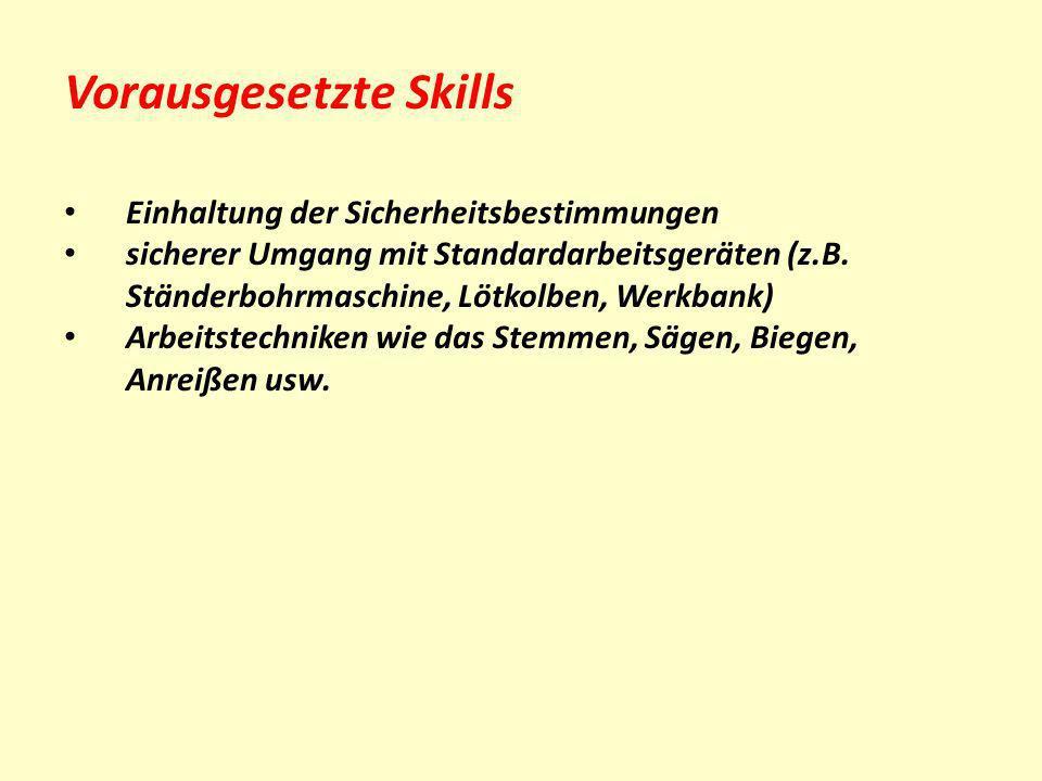 Vorausgesetzte Skills
