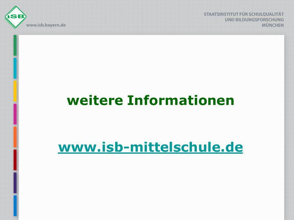 weitere Informationen www.isb-mittelschule.de