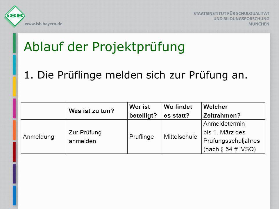 Ablauf der Projektprüfung