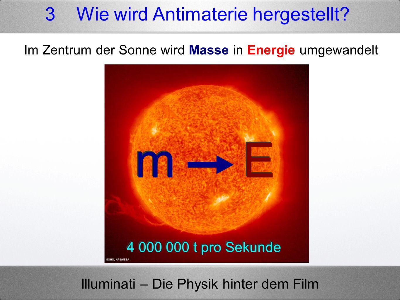 Im Zentrum der Sonne wird Masse in Energie umgewandelt