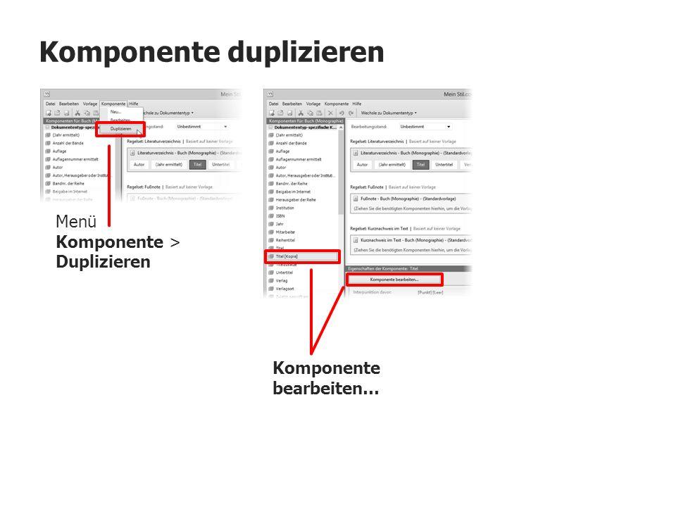Komponente duplizieren