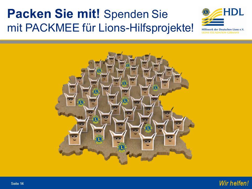 Packen Sie mit! Spenden Sie mit PACKMEE für Lions-Hilfsprojekte!