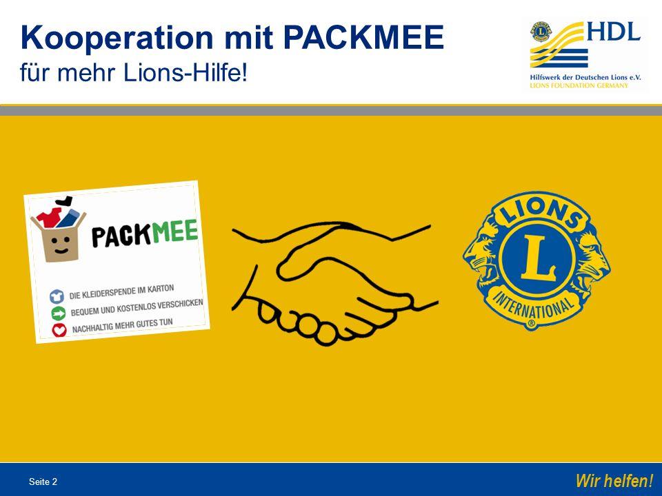 Kooperation mit PACKMEE für mehr Lions-Hilfe!