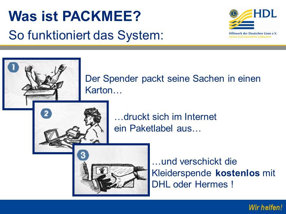 Was ist PACKMEE So funktioniert das System: