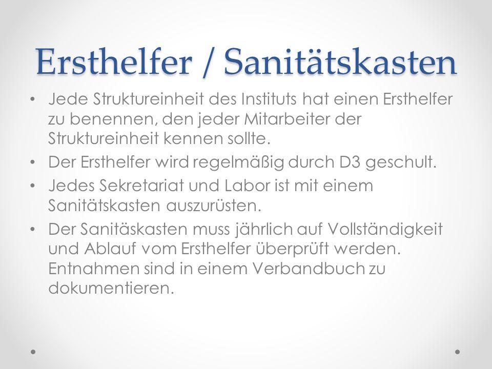 Ersthelfer / Sanitätskasten