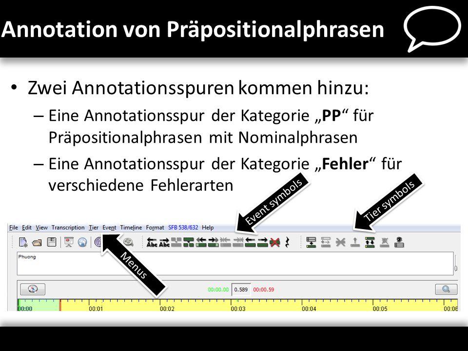 Annotation von Präpositionalphrasen