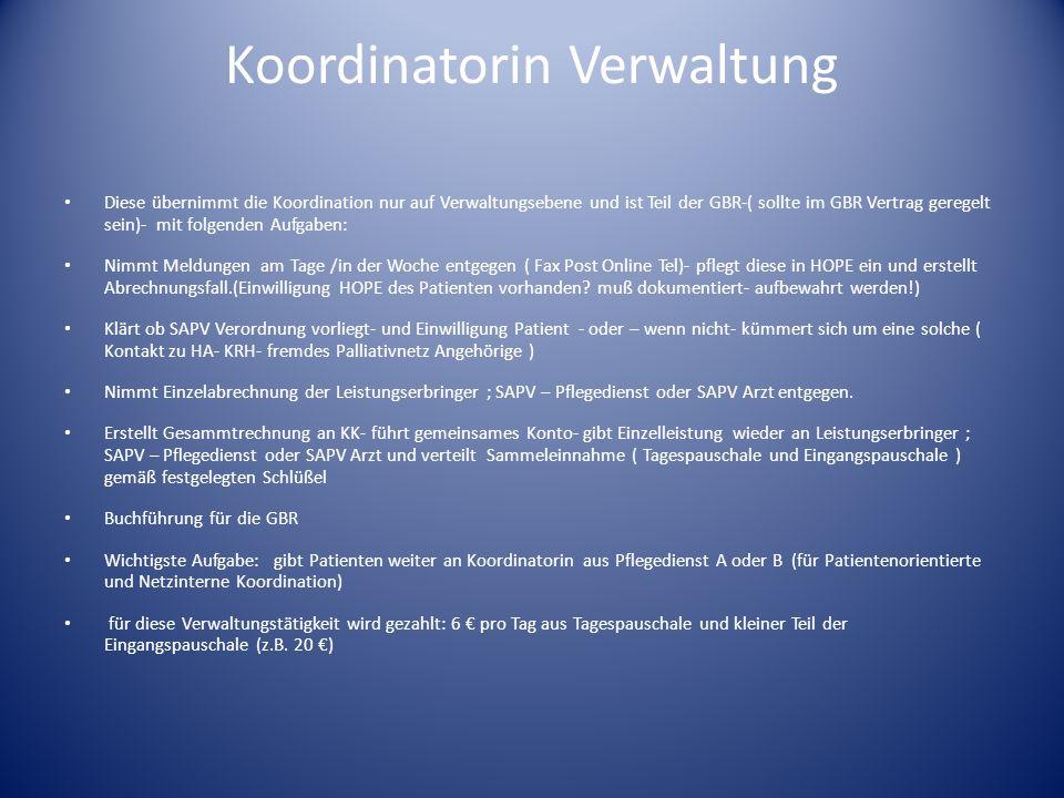 Koordinatorin Verwaltung